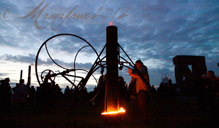 fire garden at stonehenge 2012