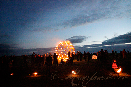 fire art at stonehenge
