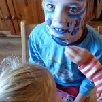 Facepainting. Uh huh.
