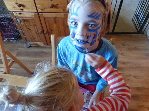5yr old facepainting brother