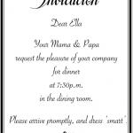 Dear Children, you are invited…