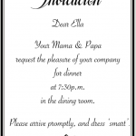 Dear Children, you are invited…